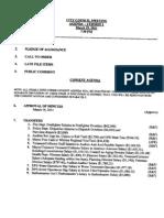 Newburyport City Council Agenda of March 29, 2011