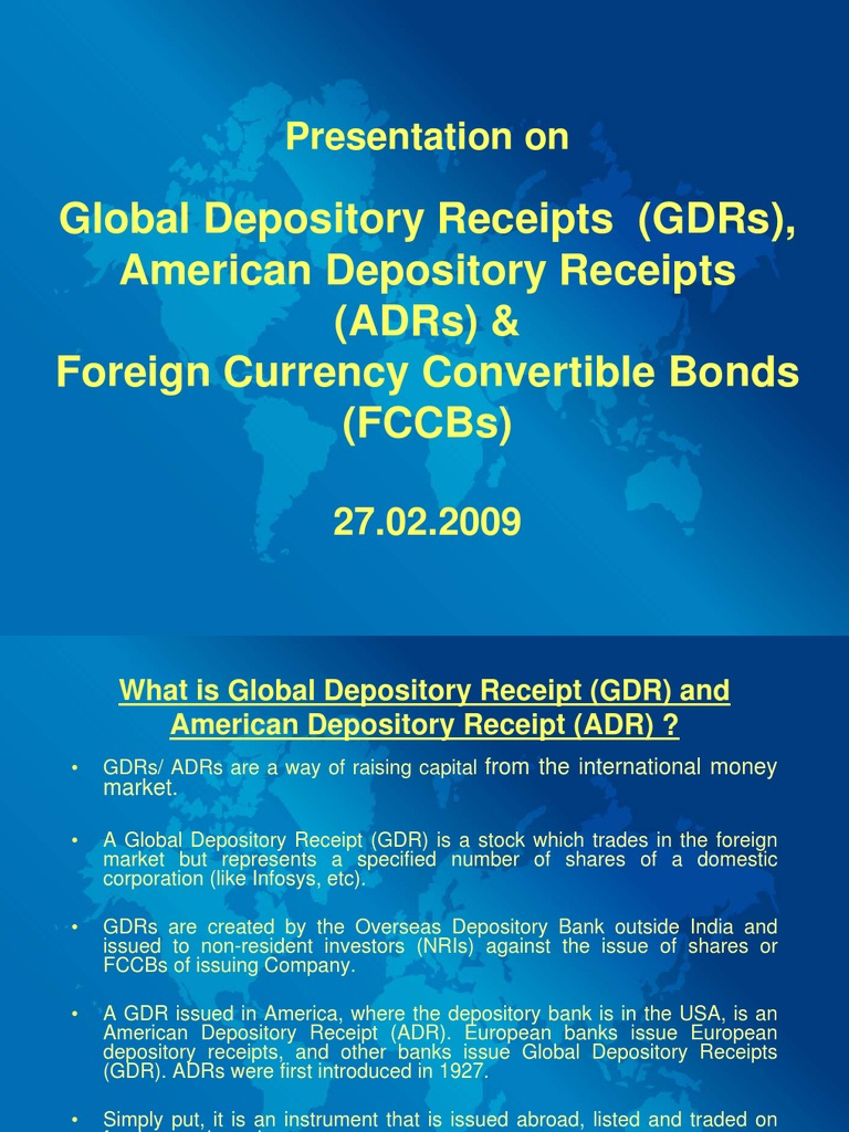 adr gdr fccb