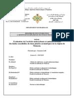 Evaluation de l Activite Antioxydante Et Antimicrobienne Des Huiles Essentielles de Deux Plantes Aromatiques de La Region de Tlemcen