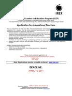 2011-2012 ILEP application (UPDATE)