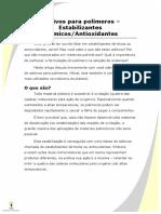 Aditivos para polímeros - estabilizantes-antioxidantes
