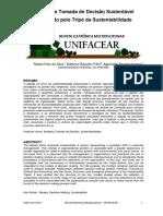 Modelo de Tomada de Decisao Sustentavel Informado Pelo Tripe Da Sustentabilidade