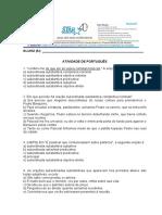 Atividade de Português 3º Ano Revisão