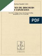 OA Analyses Du Discours Et Contextes