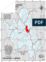Mapa de Organização Hidrográfica de Amargosa/BA