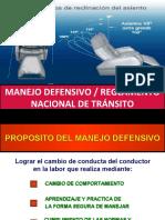 Manejo Defensivo y Reglamento Nacional de Transito
