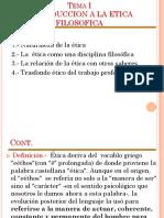 Tema Nº1 - Introducción a la Ética Filosófica