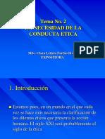 Tema Nº2 - La Necesidad de La Conducta Ética