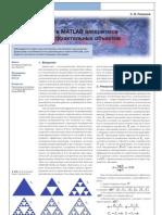 Реализация в MATLAB алгоритмов построения фрактальных объектов