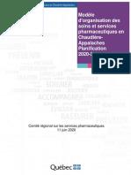 Modèle Dorganisation Des Soins Et Services Pharmaceutiques en Chaudière-Appalaches