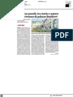 Giardino pensile tra storia e cultura a Palazzo Battiferri - Il Corriere Adriatico del 5 luglio 2021