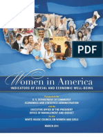 Women in America Indicators of Social and Economic Well-being a White House Report