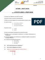 Questionnaire Examen Drt Social a Prepare