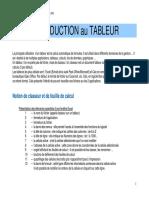 INTRODUCTION au TABLEUR (1)