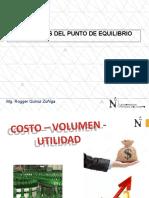 FUNDAMENTOS DEL PUNTO DE EQUILIBRIO