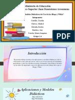 Aplicaciones y modelos didácticos de uso de los blogs y wikis (ppt)