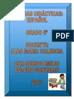 Agenda de Español de 5º