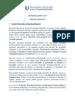 Noul proiect România educată, forma sintetică pusa la dispoziția Edupedu.ro de către administrația prezidențială