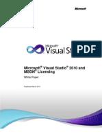 Visual Studio 2010 and MSDN Licensing Whitepaper - Mar-2011