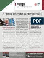 À l'assaut des marchés internationaux !, Infor FEB 11, 25 mars 2011