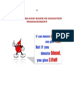 ROLE OF BLOOD BANK IN DISASTER MANAGEMENT