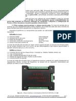 Manual Datasheet Interface Placa Controladora CNC via porta USB RnR V2 ECO MOTION 2.0 - 4 Eixos para Mach3
