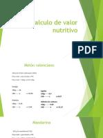 ALEJANDRO RODRIGUEZ Calculo de Valor Nutritivo
