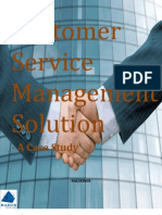 Customer Service Management Solution - Case Study