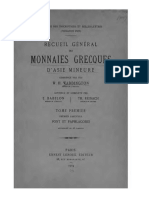 Recueil général des monnaies grecques d'Asie mineure. T. I. Fasc. 1