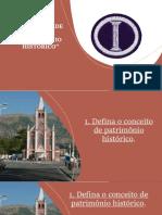 Apresentação  - PATRIMONIO HISTORICO resposta