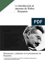 Breve introducción al pensamiento de Walter Benjamin