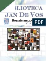 Boletín-Biblioteca Jan De Vos-Abril 2016