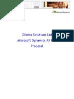 Ziitrics Solutions Microsoft Dynamics AX proposal