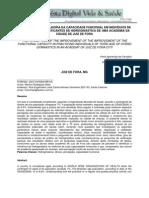A percepção da Melhoria da Capacidade Funcional em Individuos de Terceira Idade Praticantes de Hidroginástica