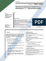 678.NBR 12828 - defensas portuárias em elastômeros tipo V - dimensões