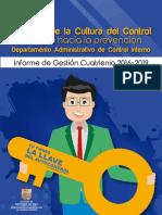 Informe de Gestión de Fomento de la Cultura del Control - Cuatrienio 2016-2019
