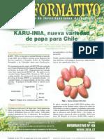 KARU - INIA, nueva variedad de papa para Chile (Boletín Informativo)