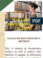 MANEJO DE DOCUMENTOS  Y ARCHIVO