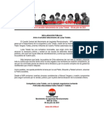 06jul2021 - Comité Central - Ante El Sensible Fallecimiento de Luisa Toledo