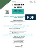 Complements Du Verbe CE1 CE2 CM1 CM2