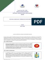 Guía para la Planificación y Contenidos de Capacitaciónes de Nivelación