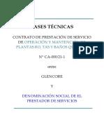 2.2 Bases Tecnicas  Operación y mantencion de Plants RO-TAS y Baños químicos