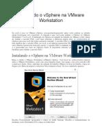 Instalando o VSphere Na VMware Workstation