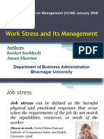 Work Stress and Its Management-prince Dudhatra-9724949948
