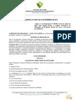 LEI N 975.2015 - Alteracao Do Codigo Tributario de Brasileia