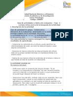 Guía de Actividades y Rúbrica de Evaluación - Unidad 2 - Fase 4 - Lectura Crítica Acerca de La Búsqueda de La Felicidad