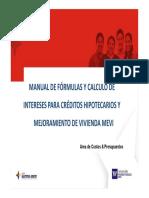 Formula Credito Hipotecario y MEVI