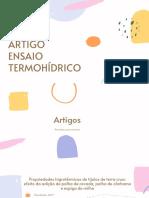 ARTIGO ENSAIO TERMOHÍDRICO