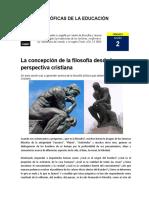 2. LA CONCEPCIÓN DE LA FILOSOFÍA DESDE LA PERSPECTIVA CRISTIANA