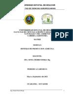 Módulo Sistemas Producción Agrícola